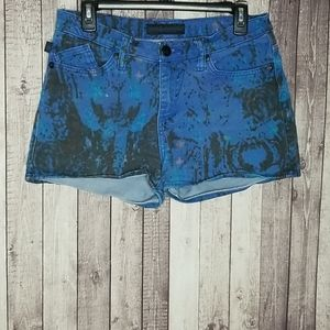 Rock & Republic Lolita tie dyed denim shorts